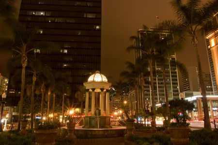 The Gaslamp Quarter is a 16 12 block historical neighborhood in downtown San Diego, California. Stock Photo