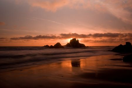Pfeiffer Beach SP in Big Sur, California Stock Photo - 3250815