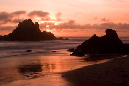 big sur: Pfeiffer Beach SP in Big Sur, California Stock Photo