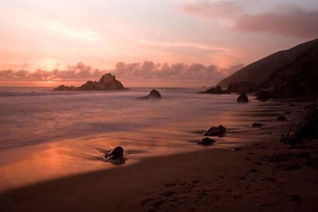 julia pfeiffer burns: Pfeiffer Beach SP in Big Sur, California Stock Photo