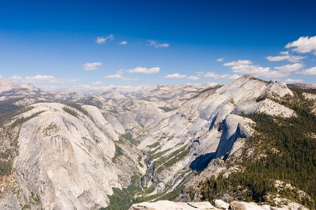 Half Dome is a granite dome in Yosemite National Park, located at the eastern end of Yosemite Valley photo