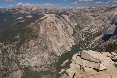 Half Dome is a granite dome in Yosemite National Park, located at the eastern end of Yosemite Valley