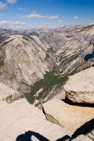 granite park: Half Dome is a granite dome in Yosemite National Park, located at the eastern end of Yosemite Valley