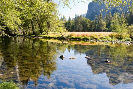 merced: Yosemite Valley is a world-famous scenic location in the Sierra Nevada mountains of California.
