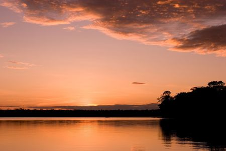 Lake Sandoval is located Tambopata-Candamo which is a nature reserve in the Peruvian Amazon Basin south of the Madre de Dios River Stock Photo - 3261536