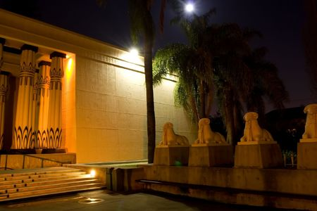 crucis: Rosicrucian Egyptian Museum (REM), founded by the Ancient Mystical Order Rosae Crucis, is a museum about Ancient Egypt located at AMORCs Rosicrucian Park in the Rose Garden neighborhood of San Jose, California, United States. The Rosicrucian Order contin Stock Photo