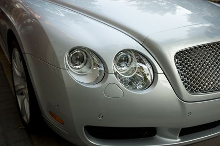Detail of luxury sports-car