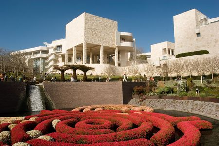 The Getty Center is located on a hill in Brentwood, Los Angeles, California overlooking Interstate 405 and Bel-Air. The museum is free to the public.