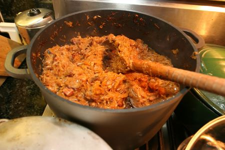 consider: Bigos  is a traditional stew typical of Polish and Lithuanian cuisine that many consider to be the Polish national dish.