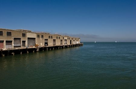 The Port of San Francisco lies on the western edge of the San Francisco Bay at the Golden Gate Stock Photo - 3542499