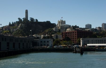 The Port of San Francisco lies on the western edge of the San Francisco Bay at the Golden Gate Stock Photo - 3542505