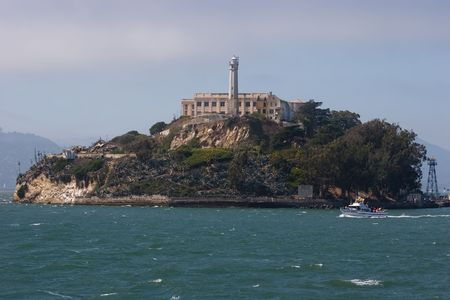 The Rock, is a small island located in the middle of San Francisco Bay in California, United States. It served as a lighthouse, then a military fortification, then a military prison followed by a federal prison until 1963. photo