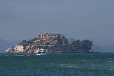 The Rock, is a small island located in the middle of San Francisco Bay in California, United States. It served as a lighthouse, then a military fortification, then a military prison followed by a federal prison until 1963. Stock Photo - 3542443