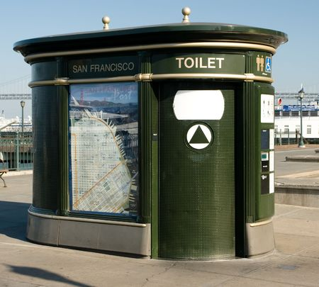latrine: The Automatic Public Toilet Program was developed because of a growing civic concern about the lack of sufficient public toilet facilities in the City.