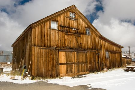 Bodie, a ghost town on the eastern slope of the Sierra Nevada mountain range in Mono County, California