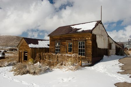 sierra: Bodie, a ghost town on the eastern slope of the Sierra Nevada mountain range in Mono County, California
