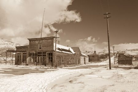 Bodie, a ghost town on the eastern slope of the Sierra Nevada mountain range in Mono County, California Stock Photo - 3740026