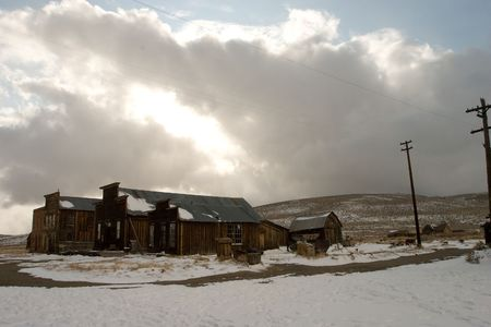 Bodie, a ghost town on the eastern slope of the Sierra Nevada mountain range in Mono County, California photo