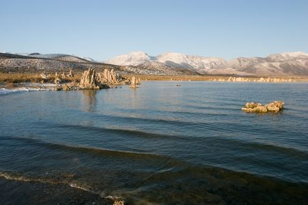 Mono Lake is an alkaline and hypersaline lake in California Stok Fotoğraf - 3758460