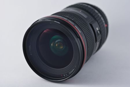 image size: wide-angle lens is a lens whose focal length is substantially shorter than the focal length of a normal lens for the image size produced by the camera Stock Photo
