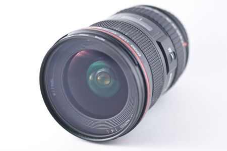 focal: wide-angle lens is a lens whose focal length is substantially shorter than the focal length of a normal lens for the image size produced by the camera Stock Photo