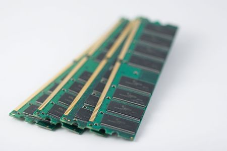 DIMM, or dual in-line memory module, comprises a series of dynamic random access memory integrated circuits. Stock Photo - 3905682