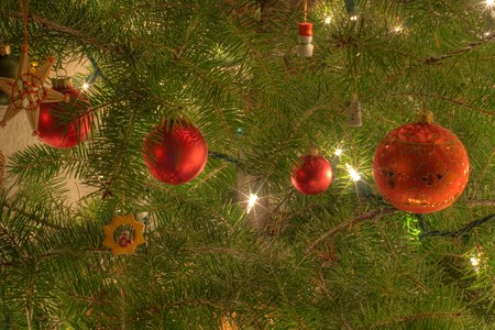 Christmas ornaments are decorations (usually made of glass, metal, wood or ceramics) that are used to festoon a Christmas tree.
