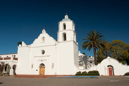 luis: Mission San Luis Rey de Francia, also known as San Luis Rey Mission Church, was founded on June 13, 1798 in what is now the town of Oceanside, California. Stock Photo