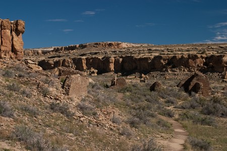 chaco: Chaco Culture National Historical Park is a United States National Historical Park and it is a portion of a UNESCO World Heritage Site hosting the densest and most exceptional concentration of pueblos in the American Southwest.