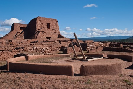 kiva: Pecos National Historical Park is a National Historical Park in the U.S. state of New Mexico. It is located about 25 miles (40 km) east of Santa Fe, New Mexico.