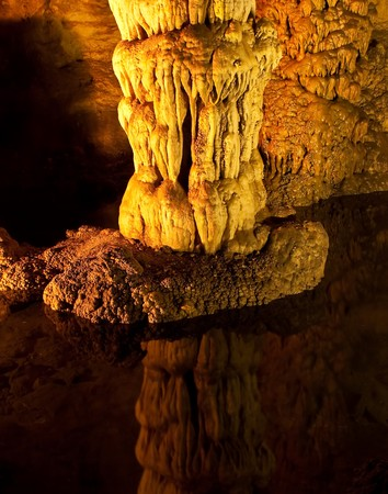mineralized: Carlsbad Caverns National Park  Stock Photo