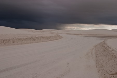 White Sands National Monument is a U.S. National Monument located about 25 km (15 miles) southwest of Alamogordo in western Otero County and northeastern Dona Ana County in the state of New Mexico Stock Photo - 4397876
