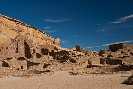 anasazi: Chaco Culture National Historical Park is a United States National Historical Park and it is a portion of a UNESCO World Heritage Site hosting the densest and most exceptional concentration of pueblos in the American Southwest.