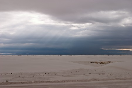 White Sands National Monument is a U.S. National Monument located about 25 km (15 miles) southwest of Alamogordo in western Otero County and northeastern Dona Ana County in the state of New Mexico Stock Photo - 4506232