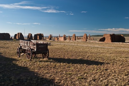 western usa: Fort Union National Monument is a unit of the National Park Service located north of Watrous, Mora County, New Mexico Stock Photo