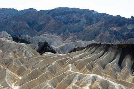 Zabriskie Point is a part of Amargosa Range located in Death Valley National Park in the United States noted for its erosional landscape. photo