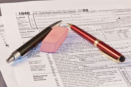 taxable: Filling federal individual tax return forms