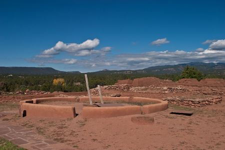adobe pueblo: Pecos National Historical Park is a National Historical Park in the U.S. state of New Mexico. It is located about 25 miles (40 km) east of Santa Fe, New Mexico.
