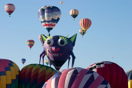 Albuquerque International Balloon Fiesta is a yearly balloon fiesta that takes place in Albuquerque, New Mexico, USA during early October. The balloon fiesta is a nine day event, and has around 750 balloons. The event is the largest balloon fiesta in the  photo