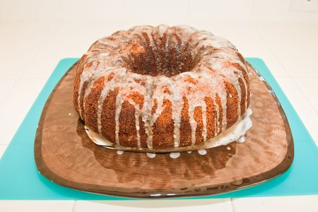 spongy: It is a spongy yeast cake that is traditionally baked for Easter Sunday in Poland, Belarus, Ukraine and Western Russia. Stock Photo