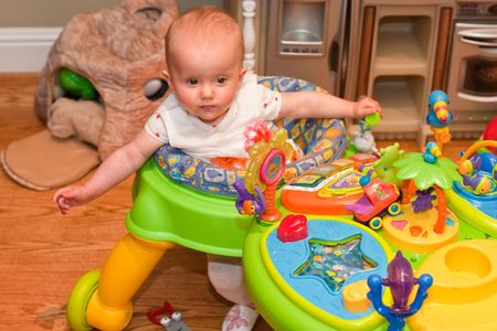 Baby walker is a device that can be used by infants who cannot walk on their own to move from one place to another.