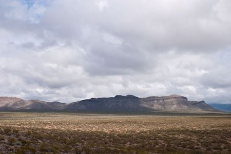 Sacramento Mountains are a mountain range in the south-central part of the U.S. state of New Mexico Stock Photo