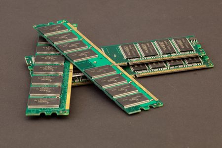 module: A DIMM, or dual in-line memory module Stock Photo