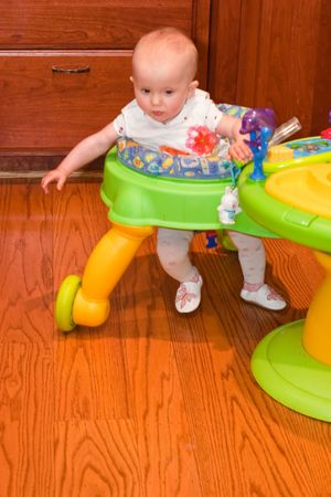 sturdy: Baby walker is a device that can be used by infants who cannot walk on their own to move from one place to another.