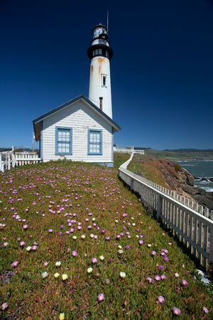 Pigeon Point Light Station or Pigeon Point Lighthouse is a lighthouse built in 1871 to guide ships on the Pacific coast of California. It is one of the tallest lighthouses in the United States. photo