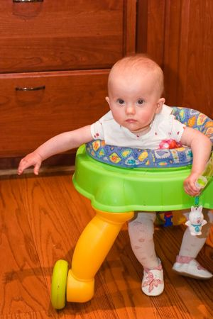 walker: Baby walker is a device that can be used by infants who cannot walk on their own to move from one place to another.