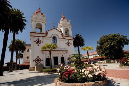 De vijf wonden Portugese nationale kerk is het hart en de ziel van de Portugese gemeenschap in Santa Clara Valley. De vijf wonden Parish ingewijd door vader Henrique Ribeiro op 8 November 1914. Stockfoto