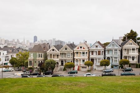 Painted Ladies is a term used for Victorian and Edwardian houses and buildings painted in three or more colors that embellish or enhance their architectural details. photo
