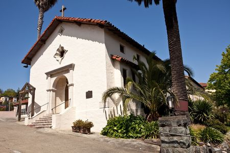 sanitarium: Mission San Rafael Arc&aacute,ngel was founded on December 14, 1817 as a medical asistencia (&quot,sub-mission&quot,) of the Mission San Francisco de As&iacute,s Stock Photo