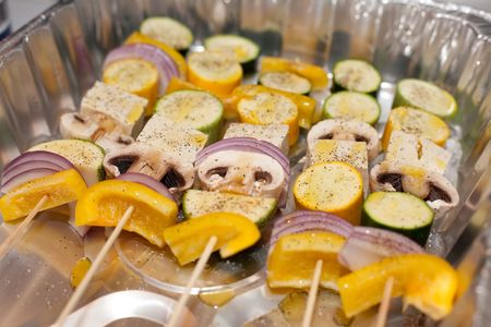 Kebab refers to a variety of meat dishes in Persian Turkish, Caucasian, Central Asian, South Asian and some of the African cuisines, consisting of grilled or broiled meats on a skewer or stick. Stock Photo - 5346945